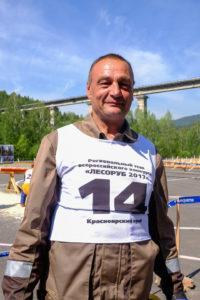 Андрей Толстиков, победитель в номинации «Вальщик леса»