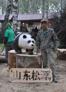 Деревянная панда